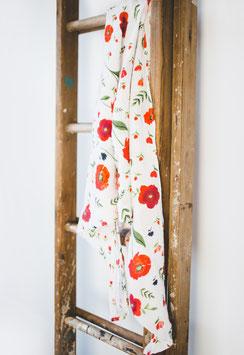 Organic Cotton (Bio-Baumwolle) Muslin Swaddle Single - Summer Poppy