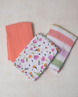Cotton Muslin Swaddle Set 3 Pack - Canana Stripe