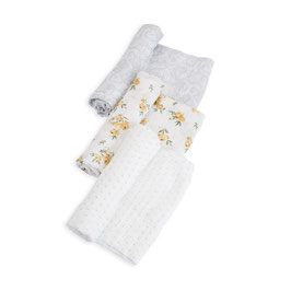 Cotton Muslin Swaddle Set 3 Pack - Yellow Rose