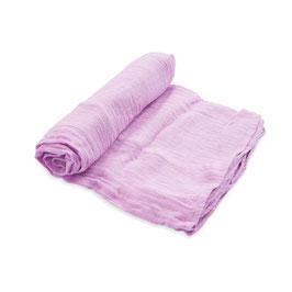 Cotton Muslin Swaddle Single - Pink Lilac