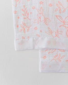 Cotton Muslin Security Blanket - Garden Rose