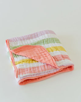 Cotton Muslin Quilt - Cabana Stripe