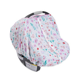 Cotton Muslin Car Seat Canopy - Morning Glory