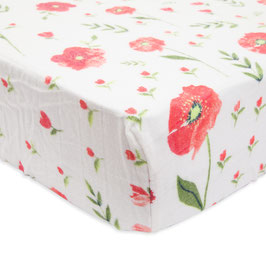 Brushed Crib Sheet - Summer Poppy