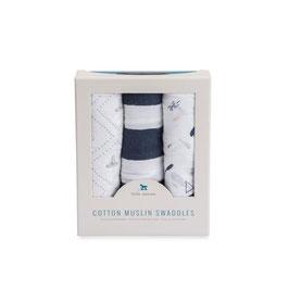 Cotton Muslin Swaddle Set 3 Pack - Anchors Awaigh