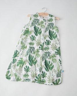Cotton Muslin Sleeping Bag - Tropical Leaf