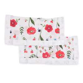 Cotton Muslin Security Blanket - Summer Poppy