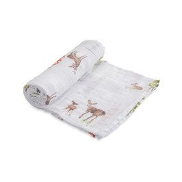 Cotton Muslin Swaddle Single - Oh Deer!
