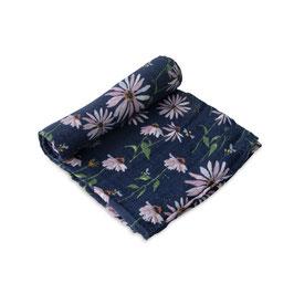 Cotton Muslin Swaddle Single - Dark Cone Flower