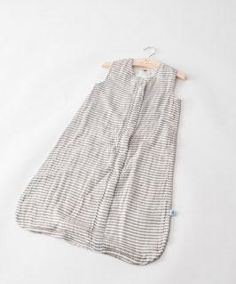 Cotton Muslin Sleeping Bag - Grey Stripes