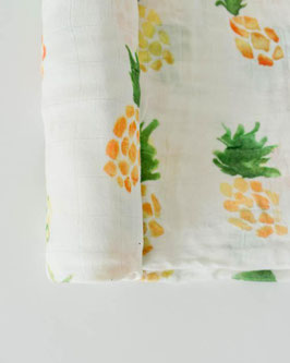 Deluxe (Bamboo) Muslin Swaddle Single- Pineapple