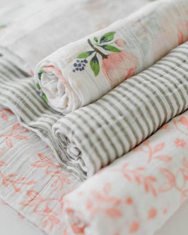 Cotton Muslin Swaddle Set 3 Pack - Watercolor Rose