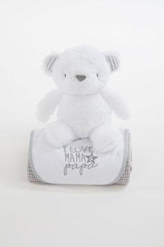Geschenkset -  Bär grau