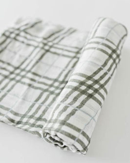 Deluxe (Bamboo) Muslin Swaddle Single- Pendleton Plaid