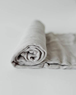 Deluxe (Bamboo) Muslin Swaddle Single- Warm Grey