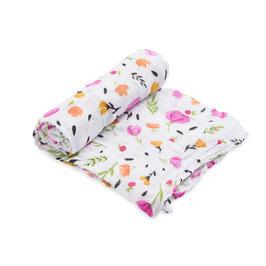 Cotton Muslin Swaddle Single - Berry & Bloom
