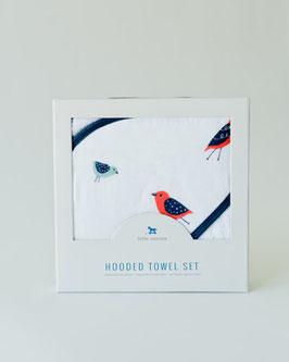 Hooded Towel & Washcloth Set - Wings