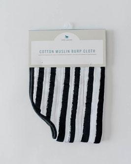 Cotton Muslin Burp Cloth  - Ink Stripe