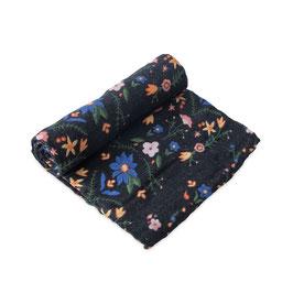 Cotton Muslin Swaddle Single - Floral Stitch