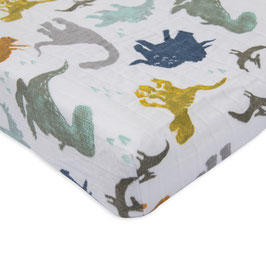 Brushed Changing Pad Cover - Dino Friends
