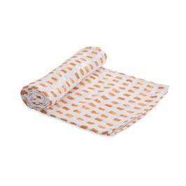 Cotton Muslin Swaddle Single - Tangerine Tiles
