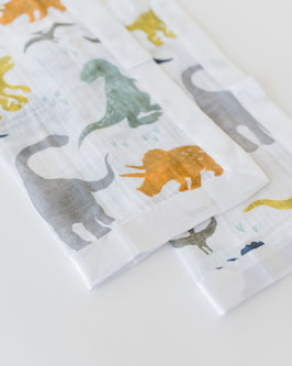 Cotton Muslin Security Blanket - Dino Friends