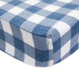 Brushed Crib Sheet - Jack Plaid