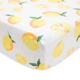 Brushed Crib Sheet - Lemon