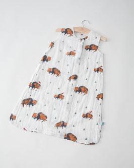 Cotton Muslin Sleeping Bag - Bison