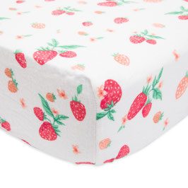 Brushed Crib Sheet - Strawberry