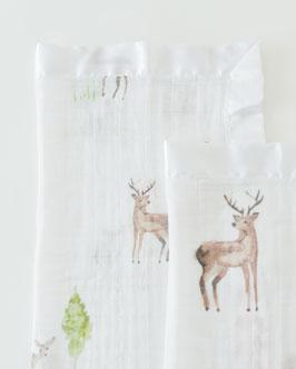 Cotton Muslin Security Blanket - Oh Deer