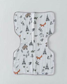 Cotton Muslin Burp Cloth  - Forest Friends