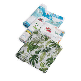 Cotton Muslin Swaddle Set 3 Pack - Summer Vibe