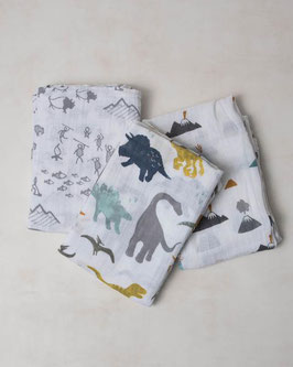 Cotton Muslin Swaddle Set 3 Pack - Dino Friends