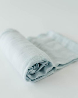 Deluxe (Bamboo) Muslin Swaddle Single- Cloud Blue