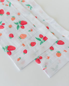 Cotton Muslin Security Blanket - Strawberry