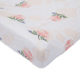 Brushed Changing Pad Cover - Watercolor Rose