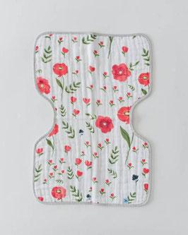 Cotton Muslin Burp Cloth  - Summer Poppy