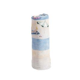 Cotton Muslin Swaddle Single - Tap Lines