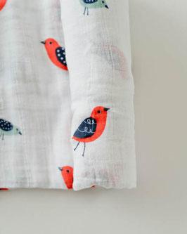 Cotton Muslin Swaddle Single - Little Wings