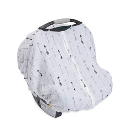 Cotton Muslin Car Seat Canopy - Arrow