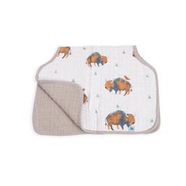 Cotton Muslin Burp Cloth  - Bison