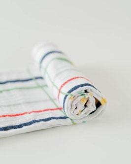Cotton Muslin Swaddle Single - Plaid