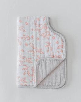 Cotton Muslin Burp Cloth  - Garden Rose