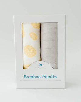 Deluxe (Bamboo) Muslin Swaddle 2Pack - Yellow Burst