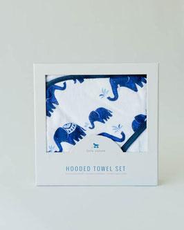 Hooded Towel & Washcloth Set - Indie Elephant