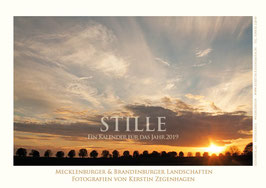 """Kalender """"Stille"""", 2019, Größe 20 x 30 cm"""
