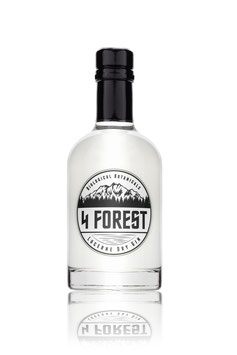 4 Forest Lucerne Dry Gin 35cl