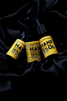 3x 10ml Hanf Aromaöl 15% CBD Vollspektrum