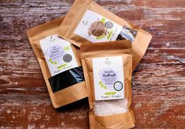 3er Bio Probierpack -  Halit Salz, Chia Samen und schwarzer Sesam